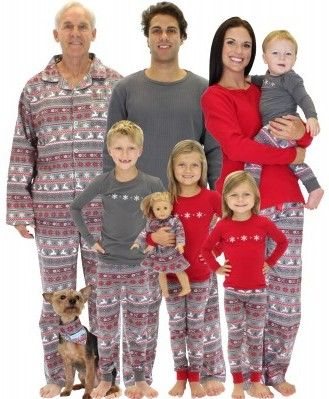 Holiday Matching Family Pajamas >> Nordic Family Matching ...
