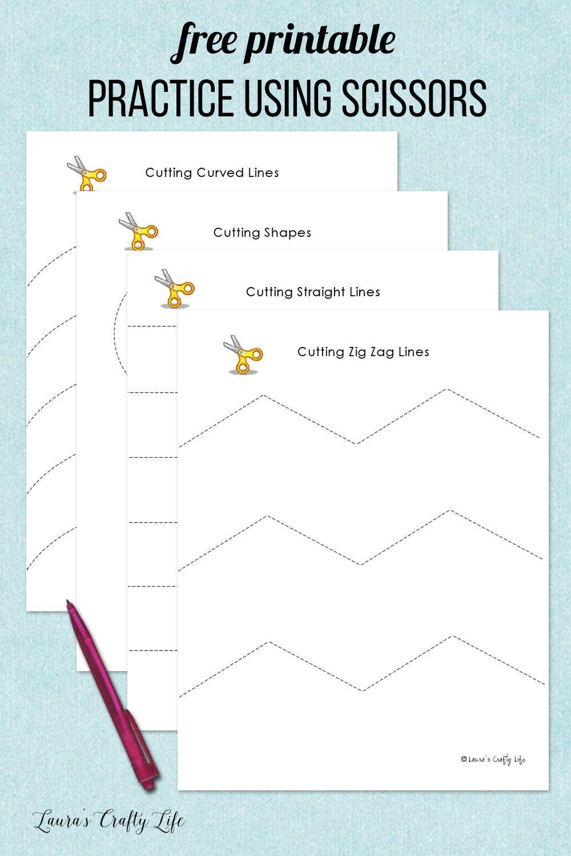 Pin On Kid Learning Is Fun Free preschool cutting worksheets