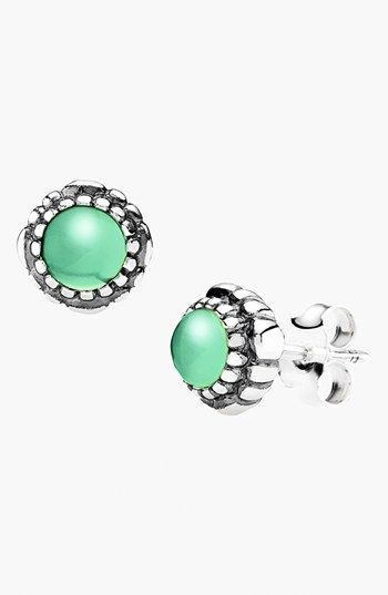 bfca35a1f PANDORA 'Birthday Blooms' Stud Earrings | Nordstrom | Pinenut's birthstone