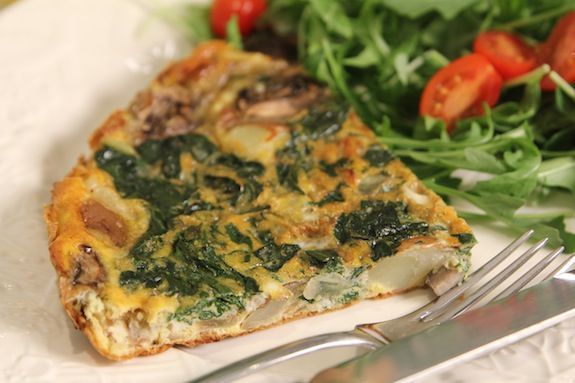 eco.love Haute Chef recipe: Swiss Chard & Mushroom Frittata by Sophie Uliano