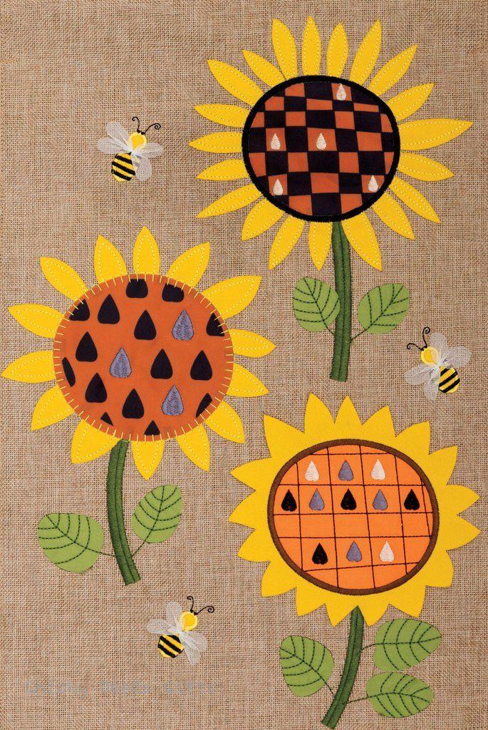 Custom Décor Burlap Garden Flag Sunflowers Autumn