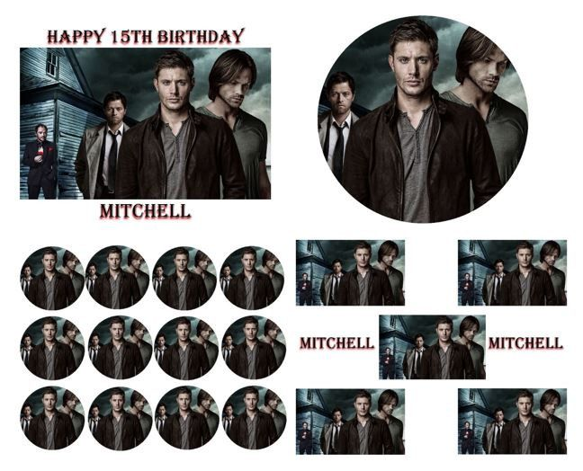 Supernatural Birthday Cake Frosting Edible Image Toppers Cupcakes