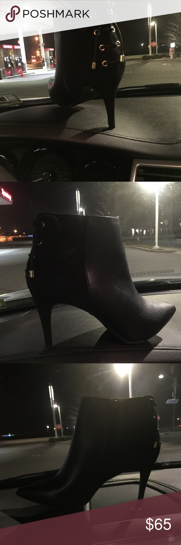 Shoe Boots Sexy shoe boots with gold accents, Just purchased them last night😊if I don't sell them I will def keep them there amazing 💃🏽 Shoes Ankle Boots & Booties