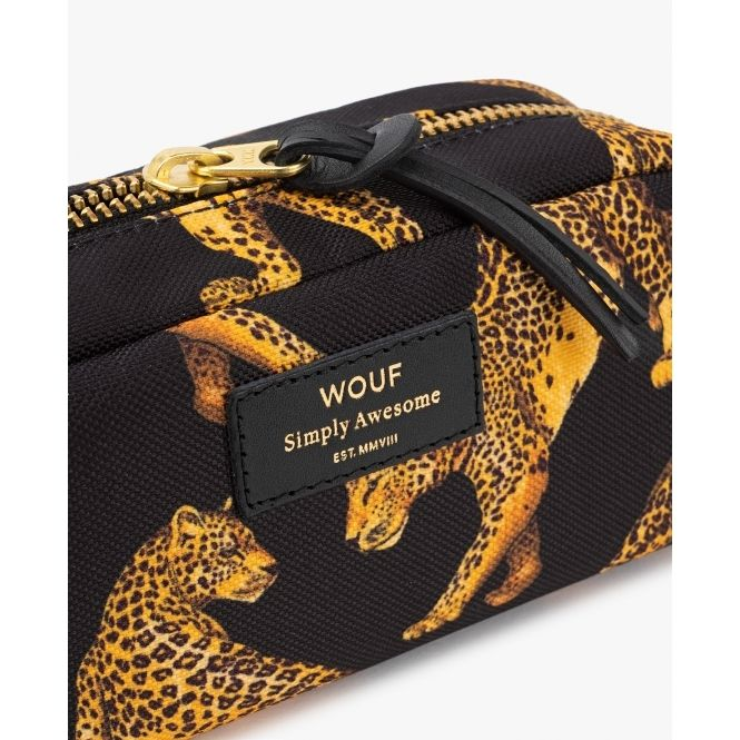 1d5ef24a213a Wouf Black Leopard Beauty Cosmetic / Makeup Bag Small | Wouf | Bags ...
