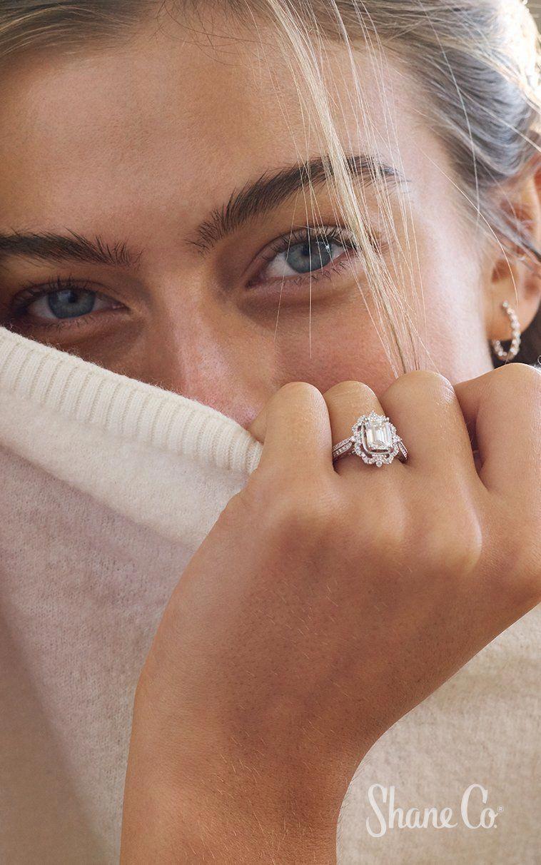 Rose Gold Engagement Ring Moonstone Engagement Ring Set Vintage