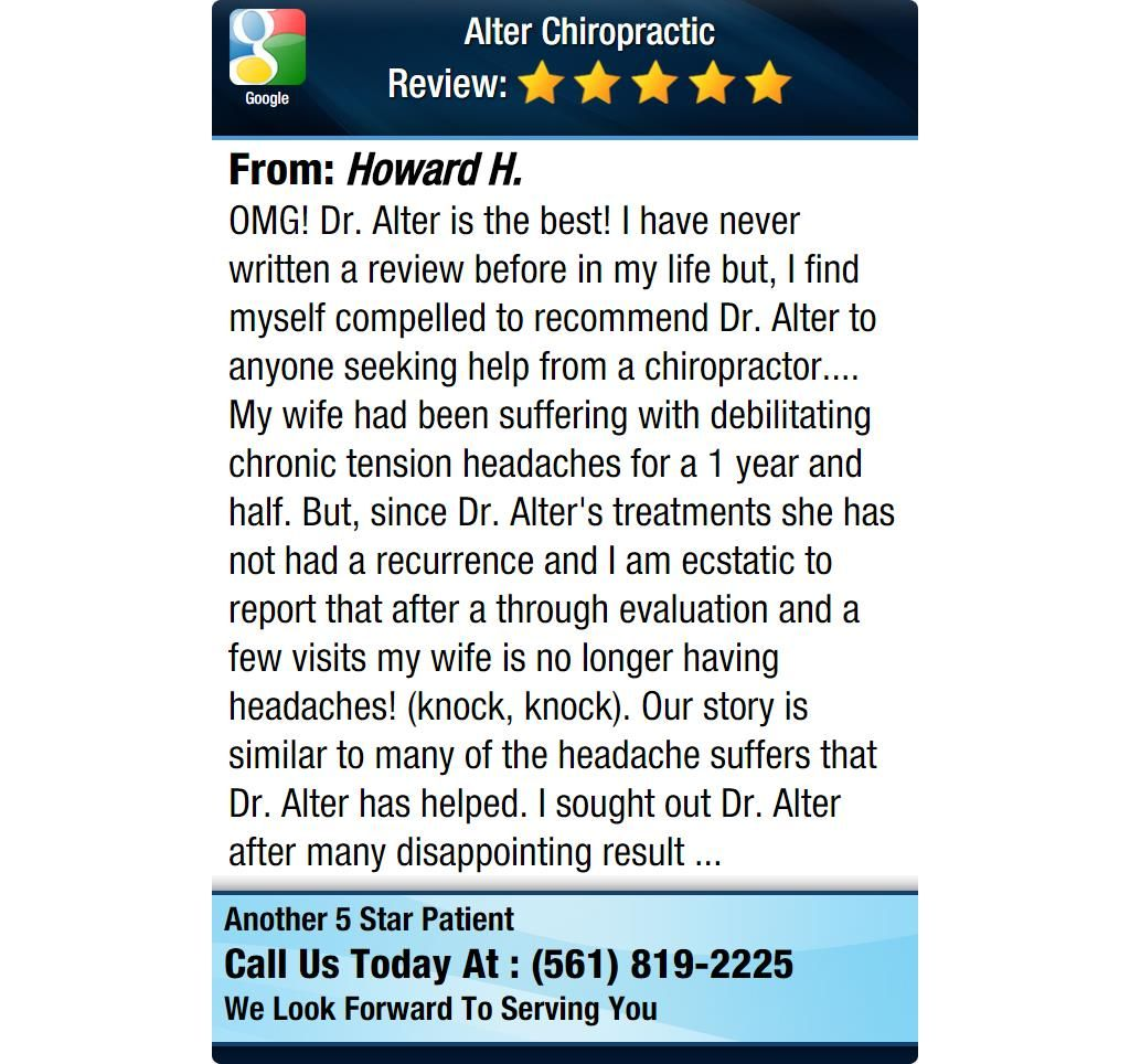 OMG! Dr. Alter is the best! I have never written a review