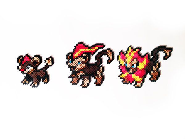 Pokemon X and Y Perler - Litleo / Pyroar (M and F) by ShowMeYourBits ...