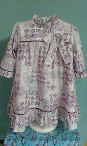 Un magnifico tutorial para hacer un vestidito de niña. ¡De un patrón se pueden hacer mil vestidos distintos!