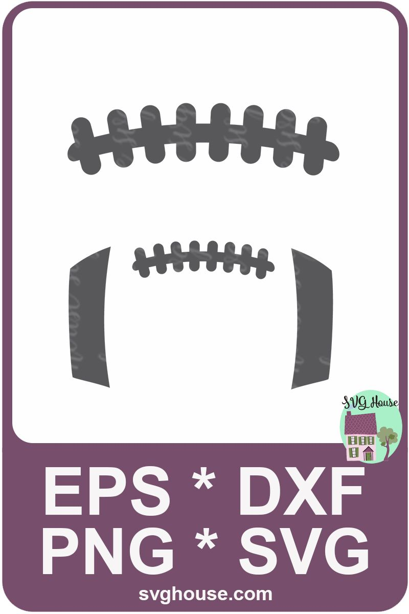 Football Laces Svg File Instant Download For Silhouette Svg Cricut Football Vinyl Decal Football Images Football Silhouette
