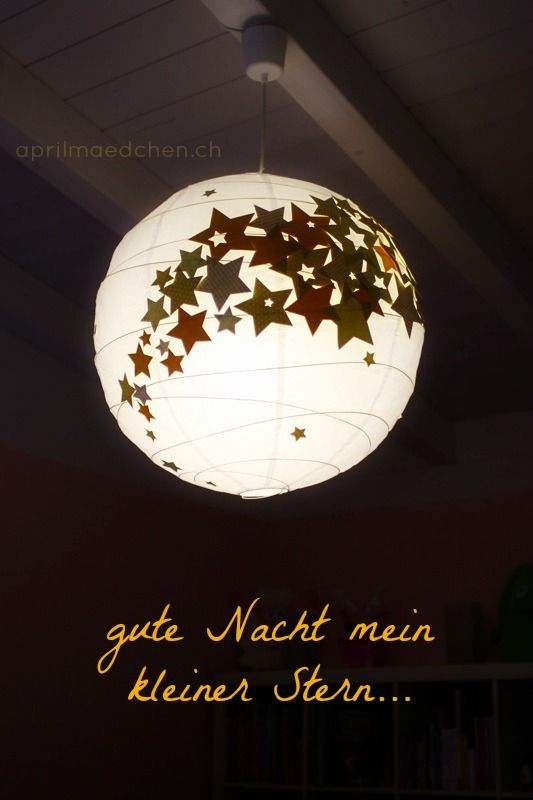 aprilmaedchen.ch: DIY :: STERNENLAMPE | Kinder zimmer, Lampe ...