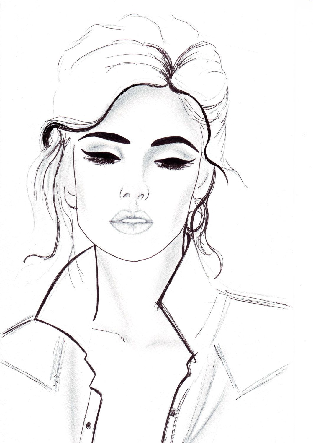 Pen And Pencil Fashion Illustration Titled All That