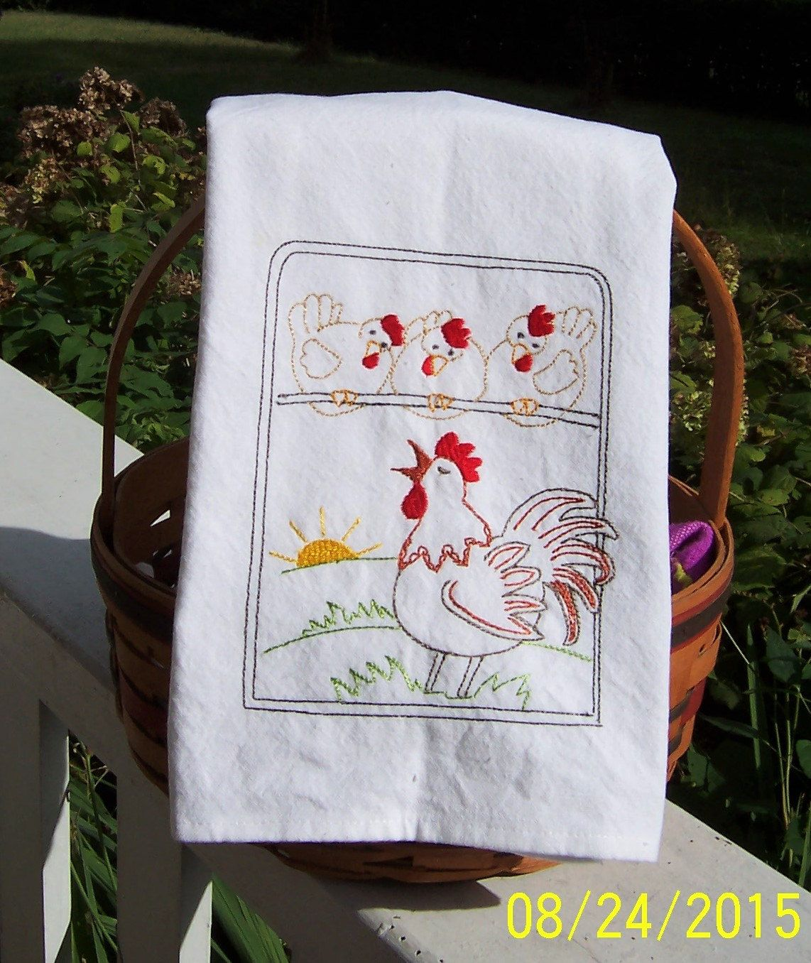 King of the Roost Tea Towel, Embroidered Dish Towel, Embroidered Kitchen Towel, Embroidered Tea Towel, Embroidered Kitchen Dish Towel #dishtowels