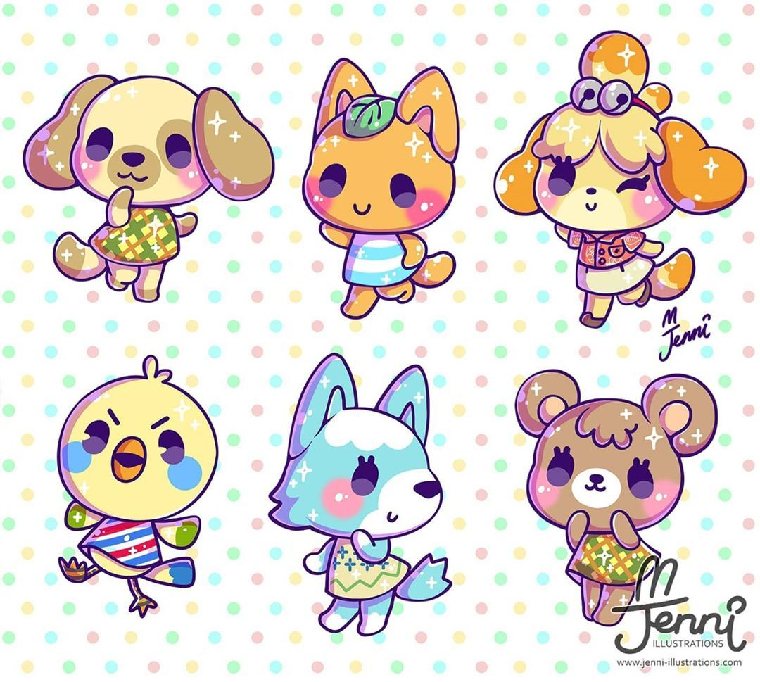 Next 6 Ac Villagers I Hope Everyone Is Having Fun Which Villagers You Got On Your Isl Animal Crossing Villagers Cute Animal Drawings Animal Crossing