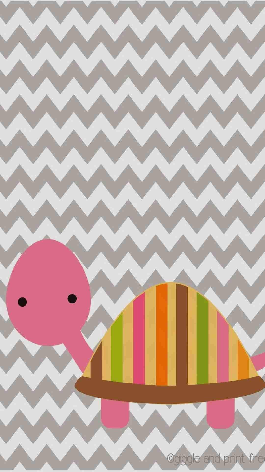 diy cute pink tortoise pattern chevron iphone 6 plus