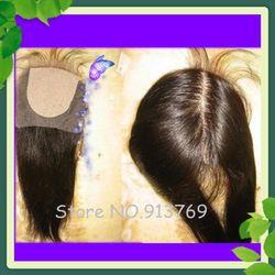 World Cheaper Hidden Knots Silk Base Closure 4*4 inch Virgin Brazilian Hair Straight Free Shipping