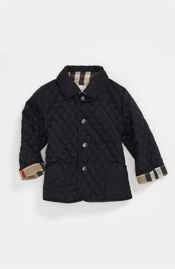 Burberry Quilted Jacket (Baby) available at #Nordstrom | Moda ... : nordstrom burberry quilted jacket - Adamdwight.com