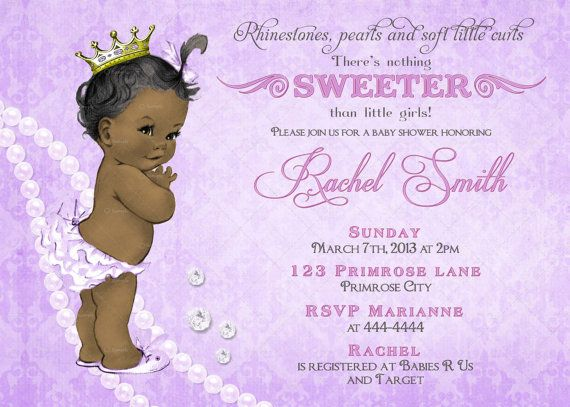 photograph relating to Free Printable African American Baby Shower Invitations referred to as African American Woman Youngster Shower Invitation and Absolutely free Thank