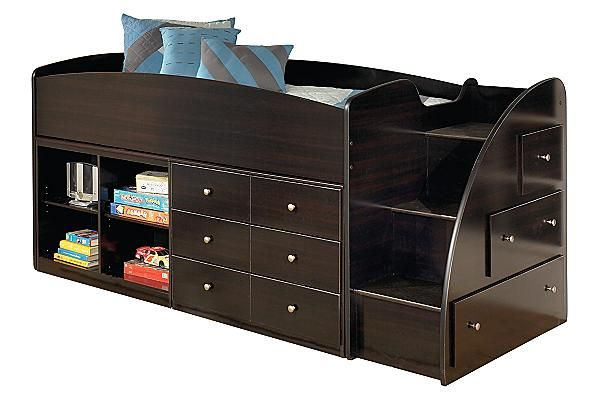 Best The Embrace Youth Loft Bed W Storage From Ashley 640 x 480