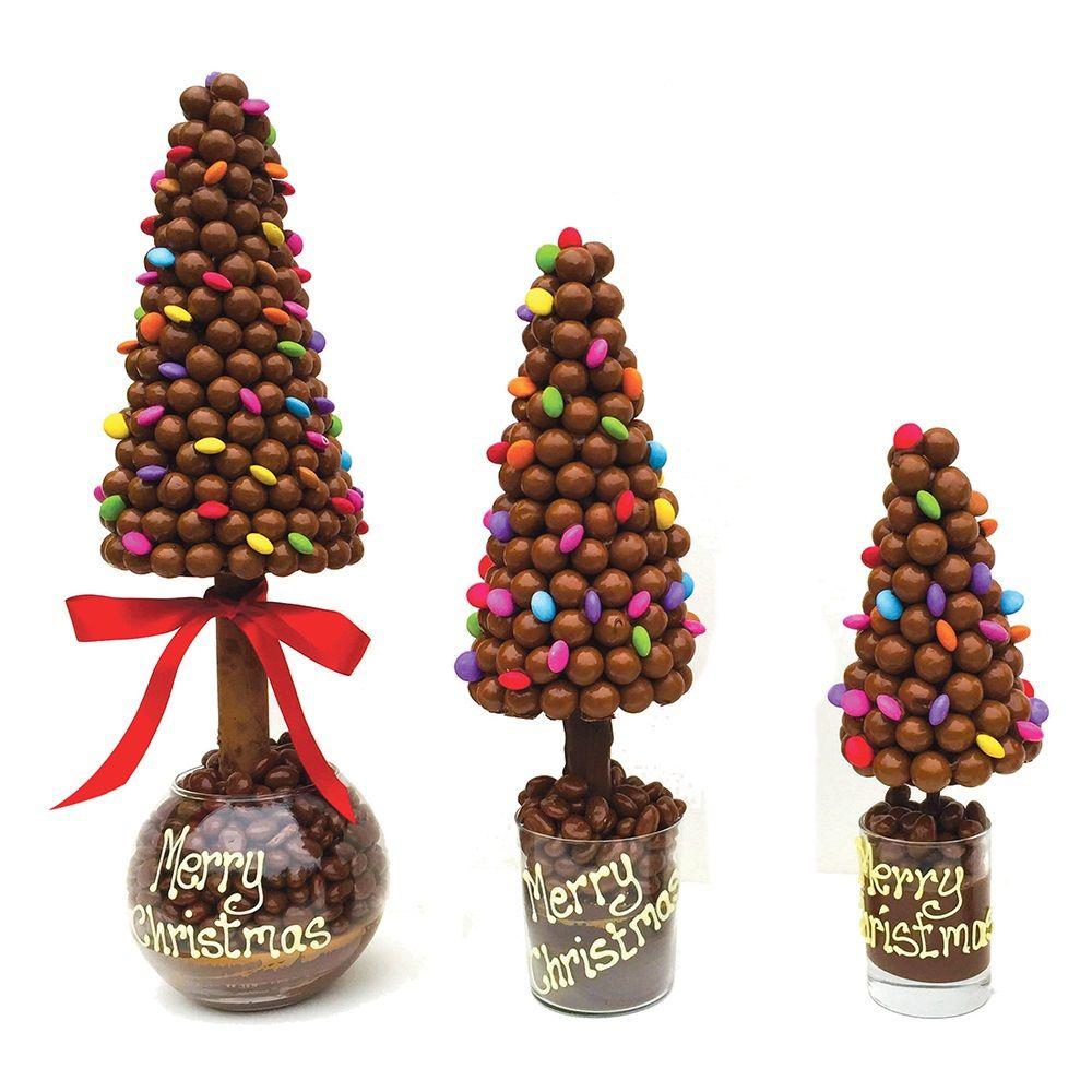 Charming Christmas Tree Chocolates Part - 5: PERSONALISED MALTESERS U0026 SMARTIES CHOCOLATE CHRISTMAS TREE