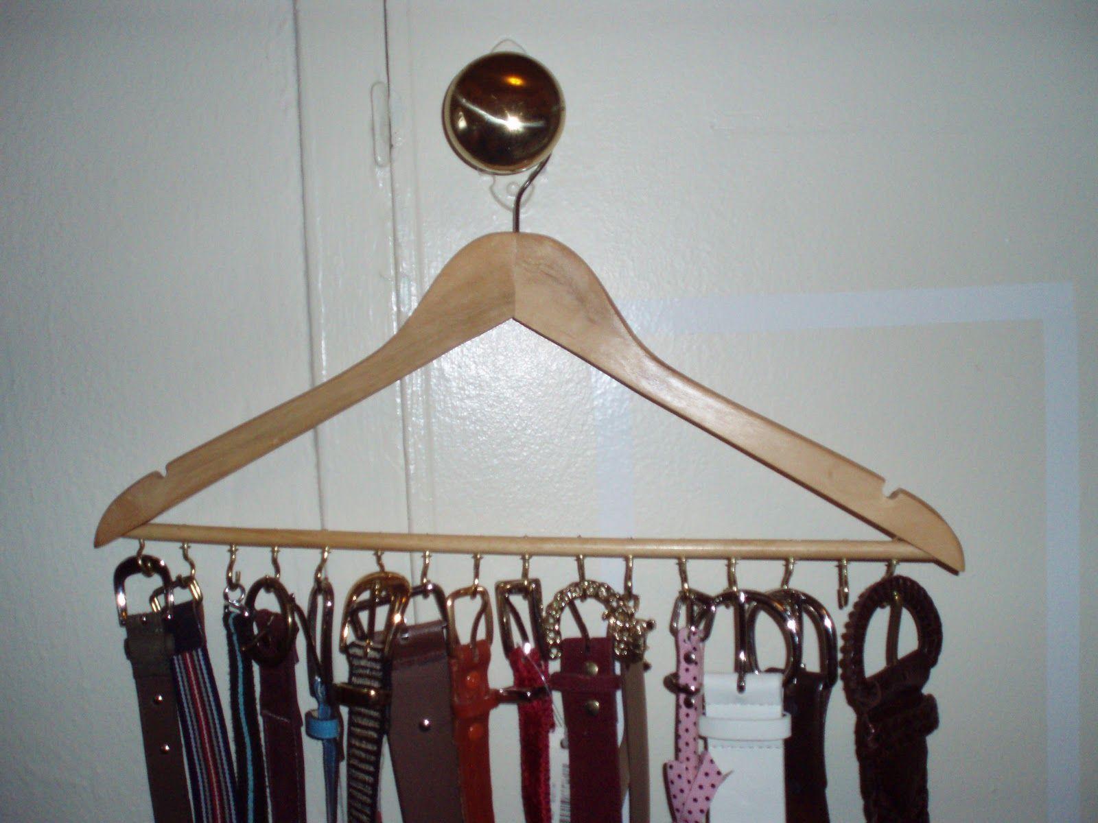 DIY Belt Organizer #diy #belt #organizer | DIY Ideas | Pinterest ...