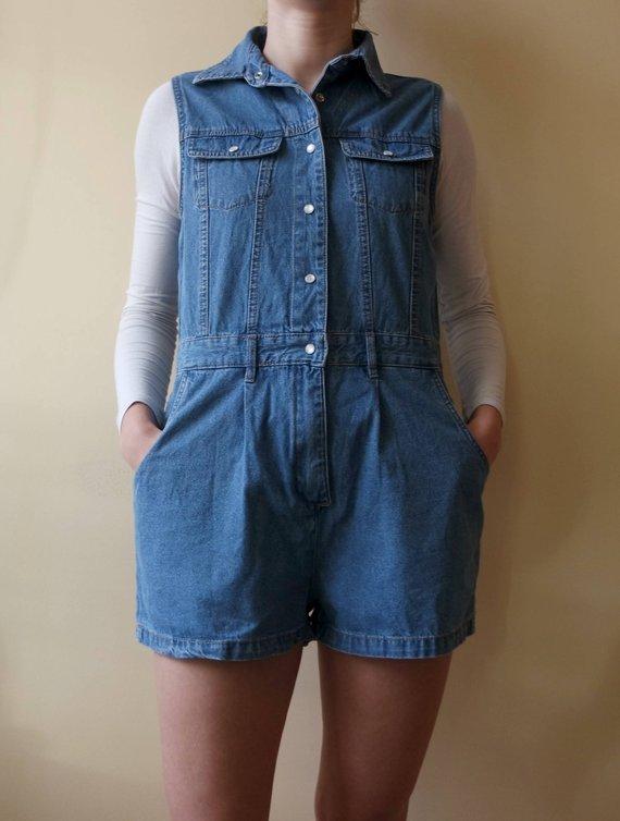 41062dbccf29 Vintage Denim Jumpsuit
