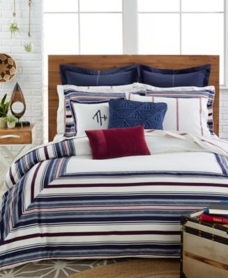 Tommy Hilfiger Sutton Stripe Comforter And Duvet Cover Sets Bedding Collections Bed Bath Macy S Duvet Cover Sets Duvet Bedding Duvet Covers