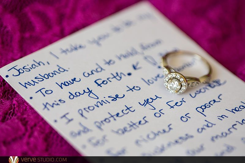 Hand Written Wedding Vows From A Bride To Her Groom At The South Florida Museum