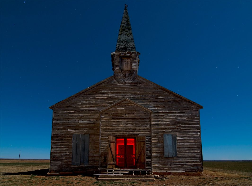 Noel Kerns uses light painting to capture ghost towns by moonlight (PHOTOS).
