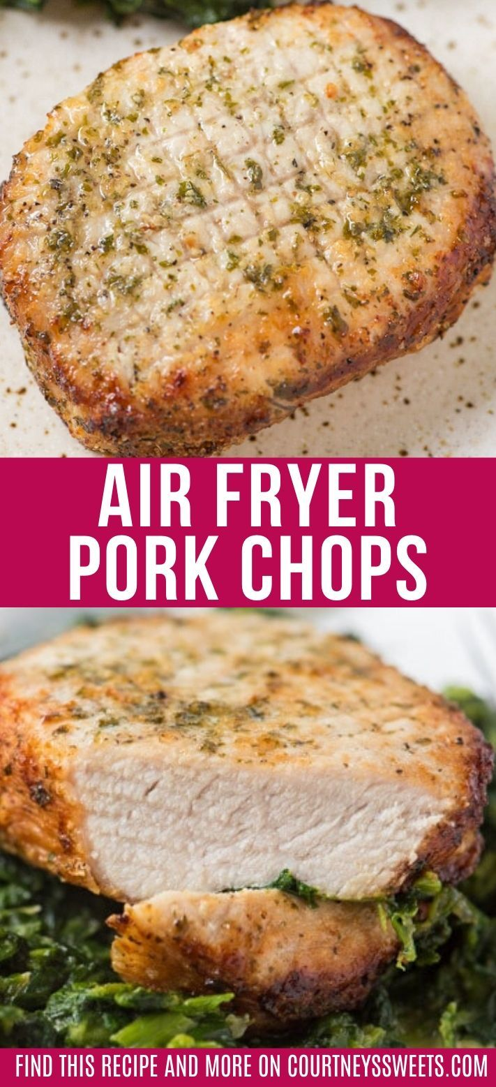 Tender and juicy air fryer pork chops with a homemade pork