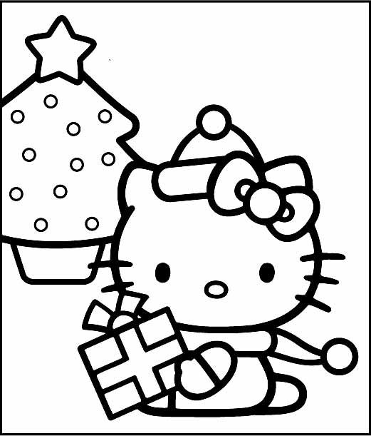 Printable Hello Kitty Merry Christmas Coloring Pages Hello Kitty Coloring Hello Kitty Colouring Pages Kitty Coloring