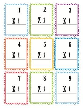 Multiplication Flash Cards 0 12 Free Education Pinterest