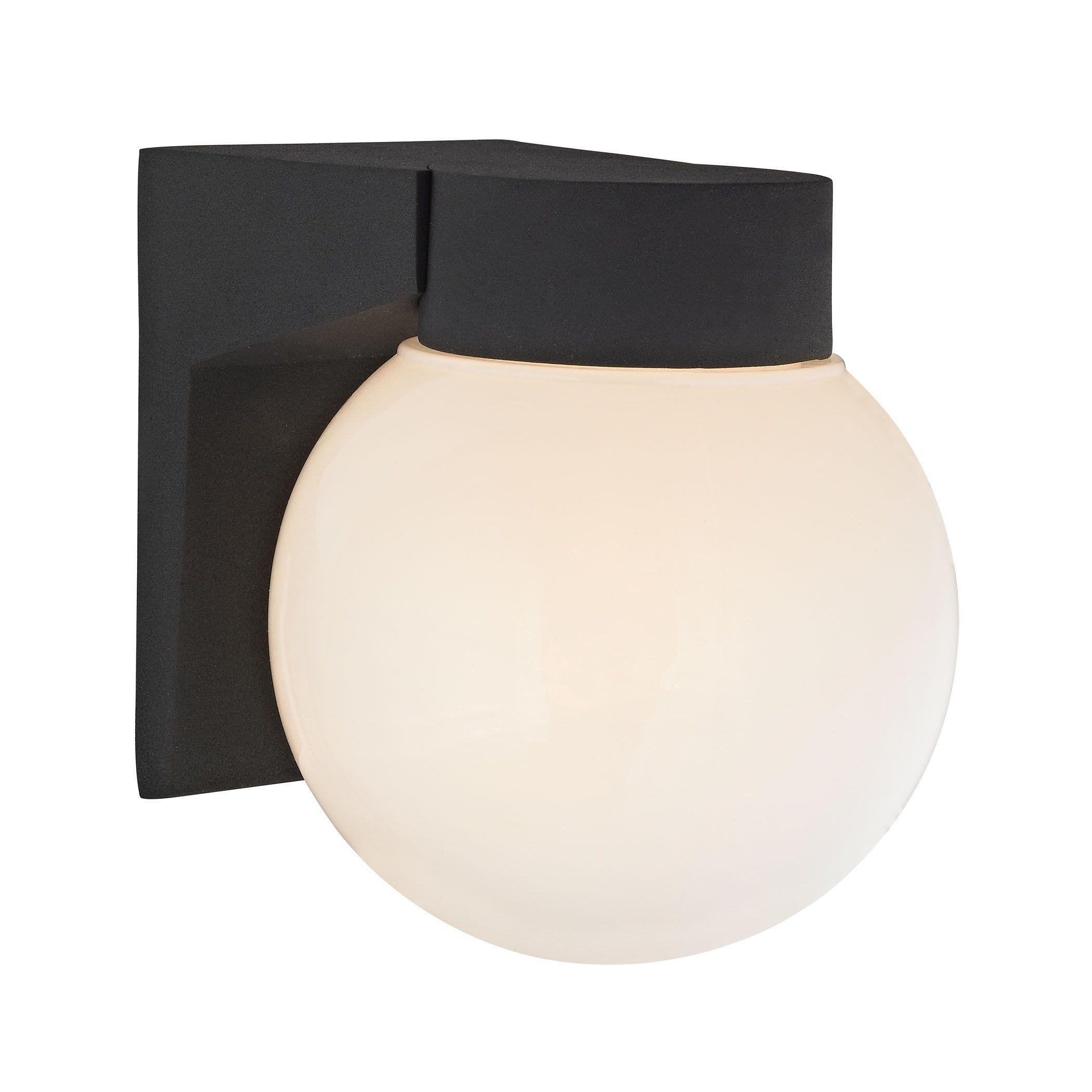 light outdoor wall sconce in matt black products pinterest
