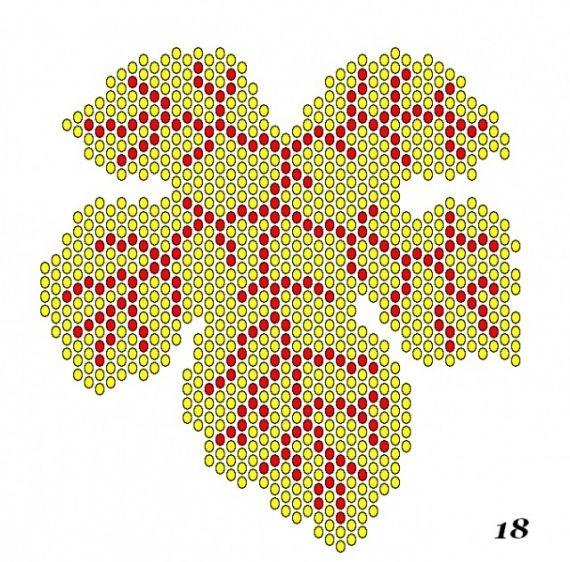 Схемы плетеных кленовых листиков / Схемы / Бусинка