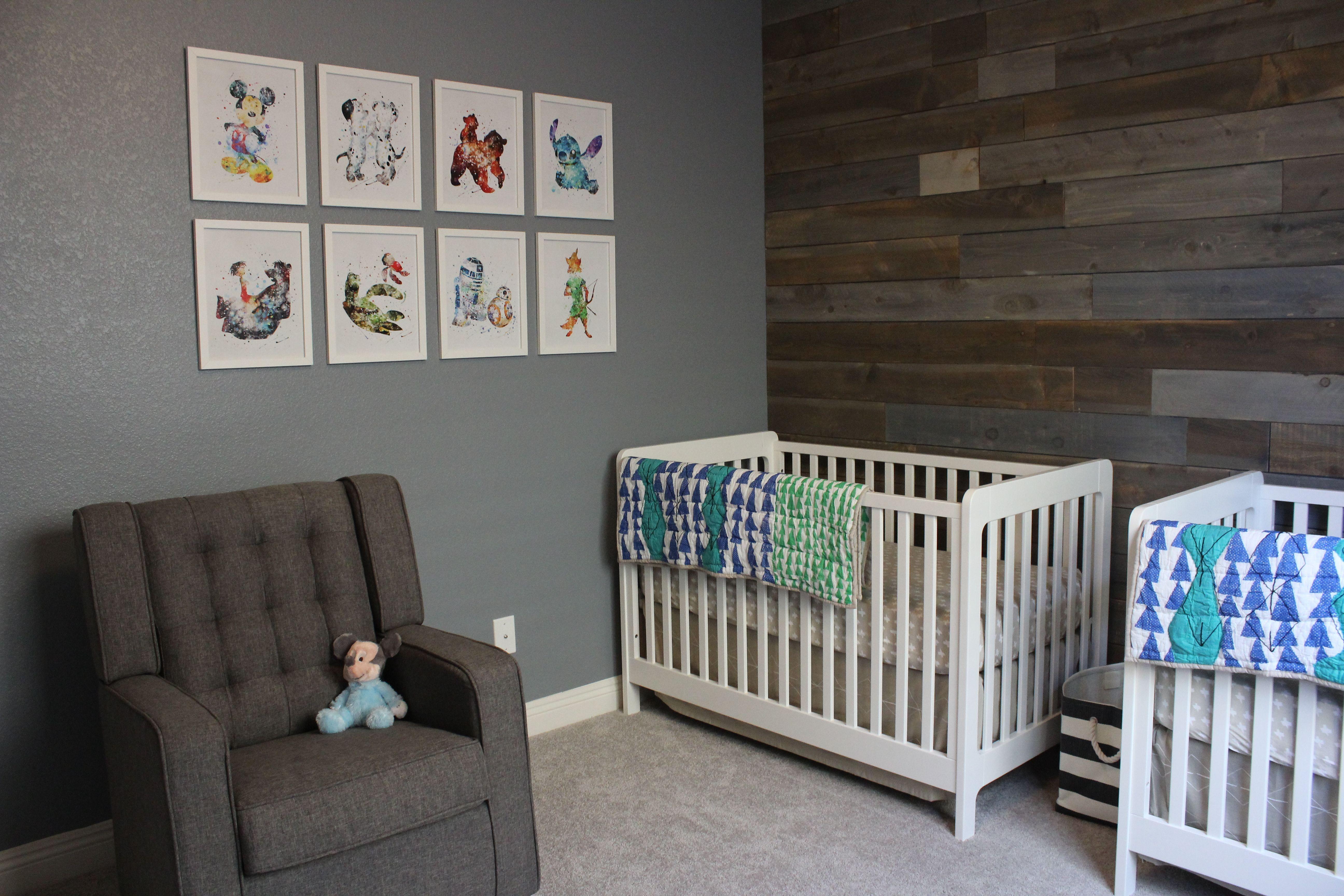 Modern Disney Twin Nursery Project Nursery Nursery Twins Disney Nursery Disney Baby Nurseries
