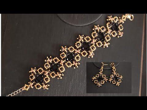 Siyah Mücevher Bileklik Yapımı & Black Jewel Brace