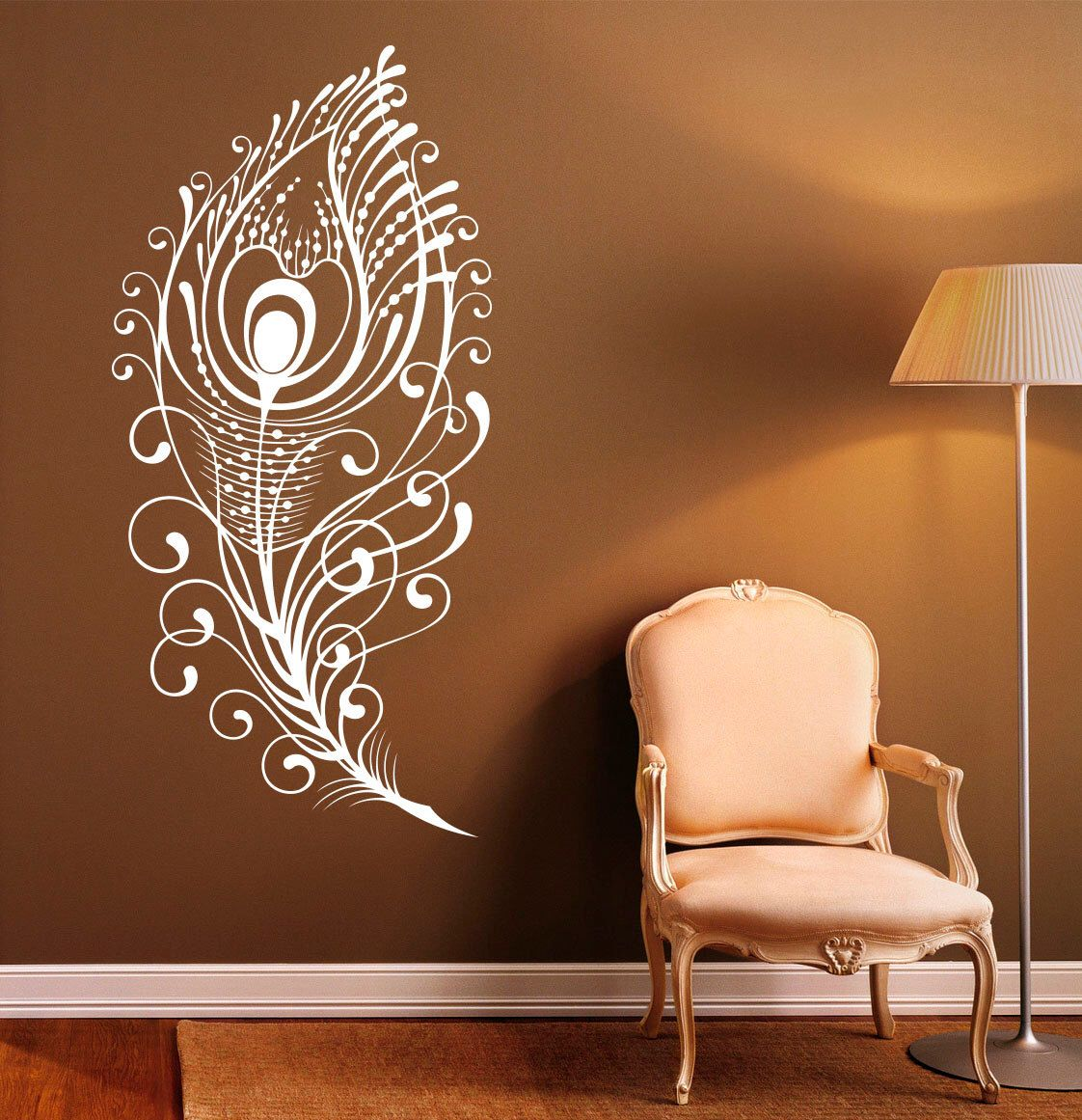 Pea Feather Wall Decal Vinyl Stickers Bird Plumage