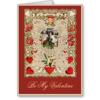 Lacy Design Victorian Valentine Greeting Cards card (I collect old valentines)