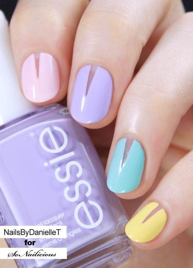 Decoracion de uñas cortas con diseños sencillos - Easy short nails ...