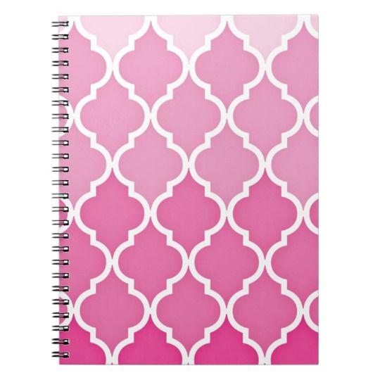 Pink Quatrefoil Notebook | Zazzle.com