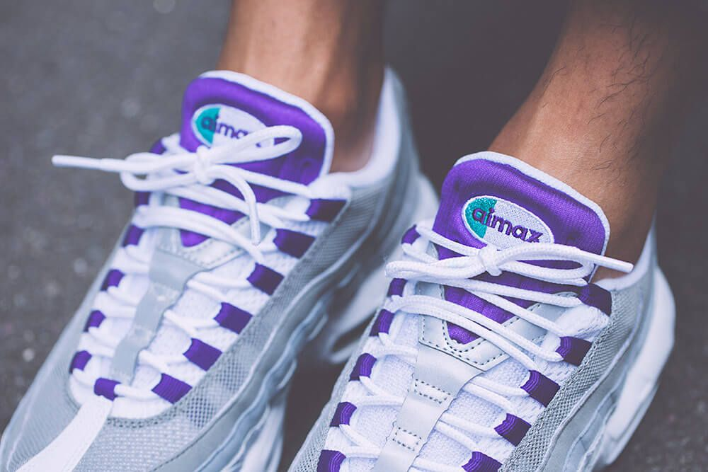 Nike Wmns Air Max 95 Grape Retro 2018 | Nike, Sneakers et Rétro
