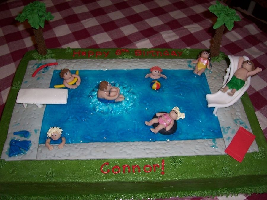 swimming pool cake childrens birthday cakes. beautiful ideas. Home Design Ideas