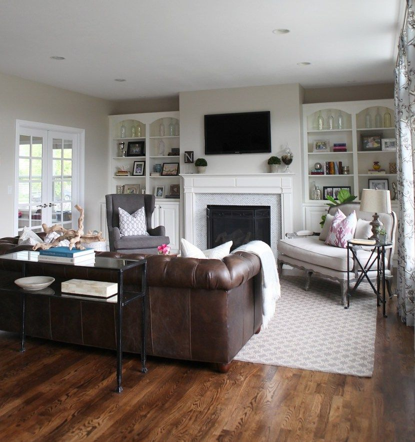 Like The Feel Of This Rug Neutral Small Pattern  Redecorating Enchanting Brown Sofas In Living Rooms Inspiration