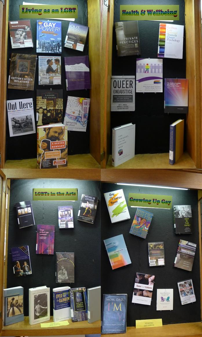 The Rockville Library s display of books and videos relating to LGBT Pride month at the Rockville campus library These items are available now for checkout