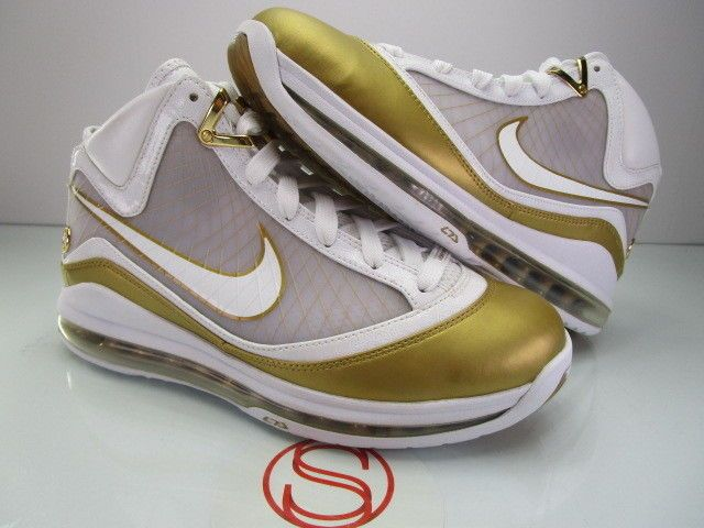 sale retailer 2e0c6 9c293 DS Nike Air Max Lebron VII 7 WHITE GOLD CHINA 8.5  fashion  clothing  shoes   accessories  mensshoes  athleticshoes (ebay link)