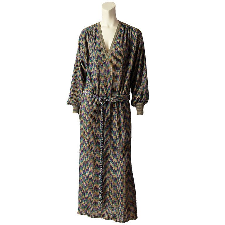 Missoni lame Knit Caftan  Italy