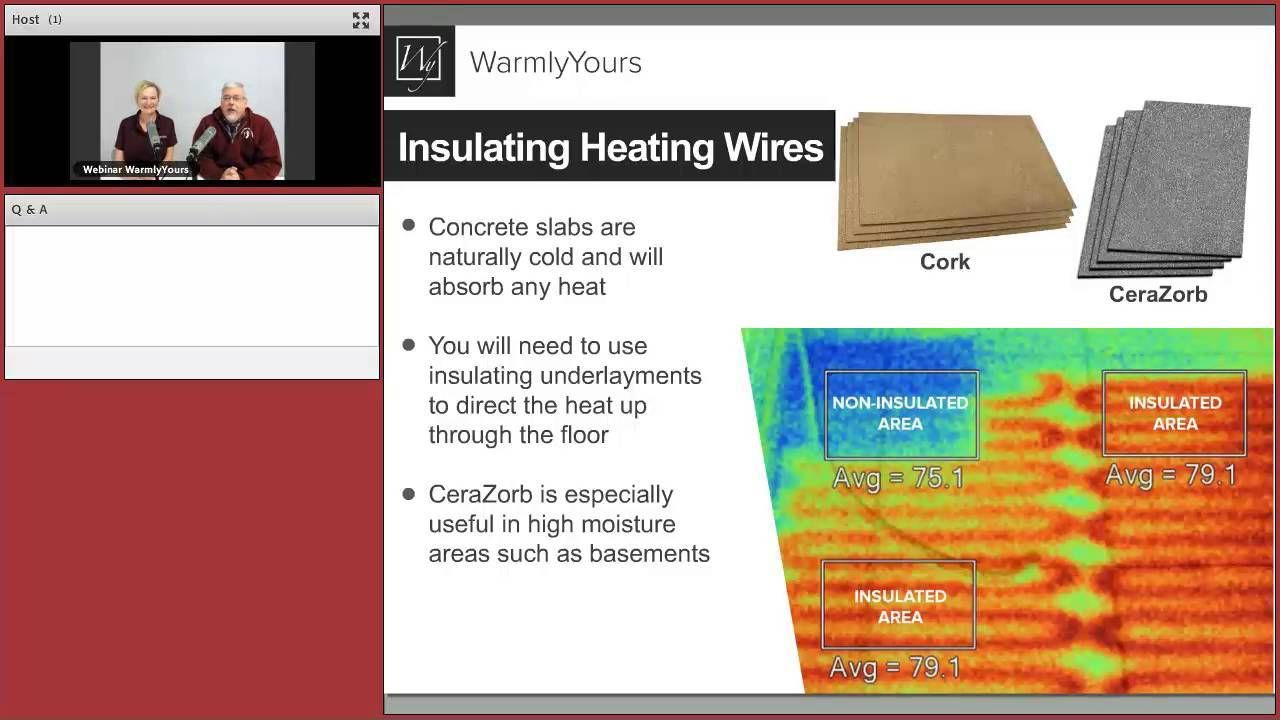 During This Webinar We Cover Everything You Need To Know About Electric Floor Heating From Electrical Requirements To Ca Heat Radiant Heat Flooring