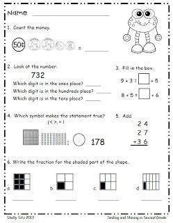 monster math freebie counting money fractions comparing numbers simple algebra addition. Black Bedroom Furniture Sets. Home Design Ideas