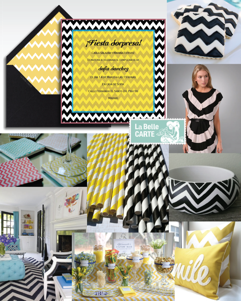Obsesion chevron ideas para fiestas baby shower y boda for Fiestas ideas originales