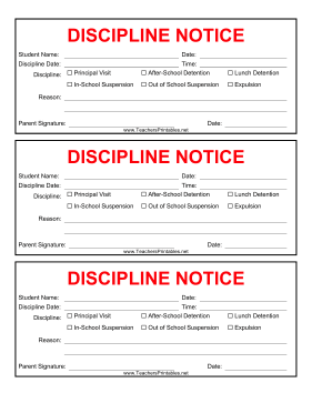 Teachers Can Send This Discipline Note Home With A Student For A