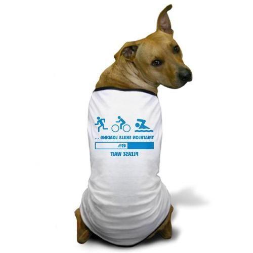 22ad8f1156db CafePress - Triathlon Skills Loading Dog T-Shirt - Dog T-Shirt